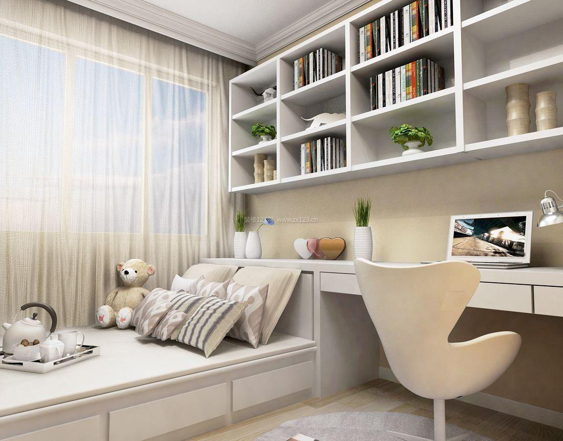 60平米小户型家居卧室兼书房装修效果图