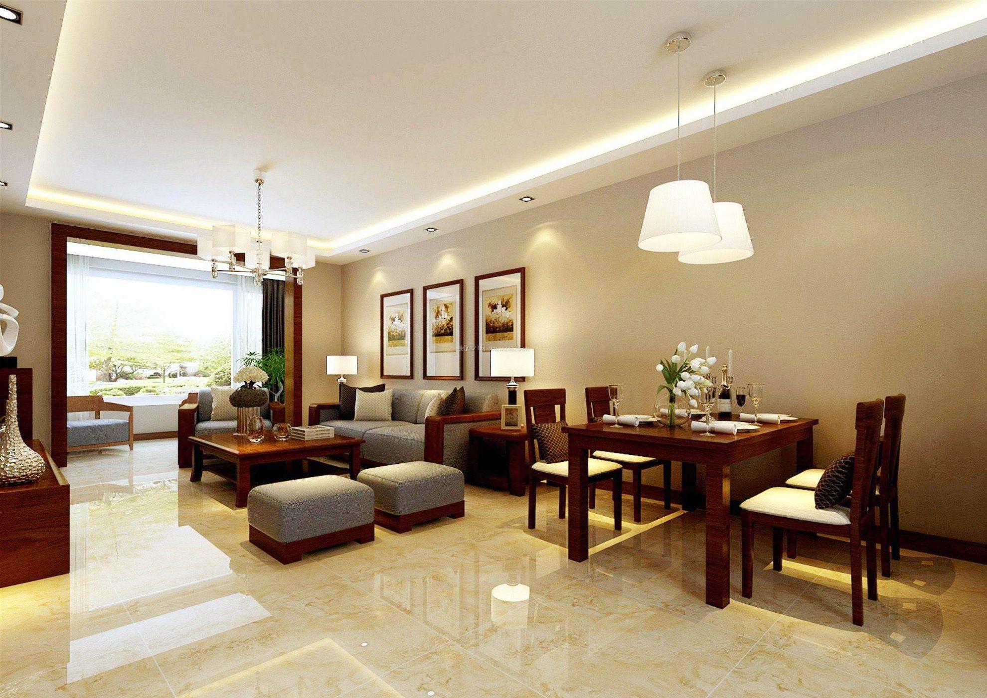 家装效果图 中式 现代中式家居客厅连阳台装修效果图 提供者:   ←图片