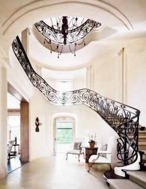 别墅大厅楼梯扶手设计图片