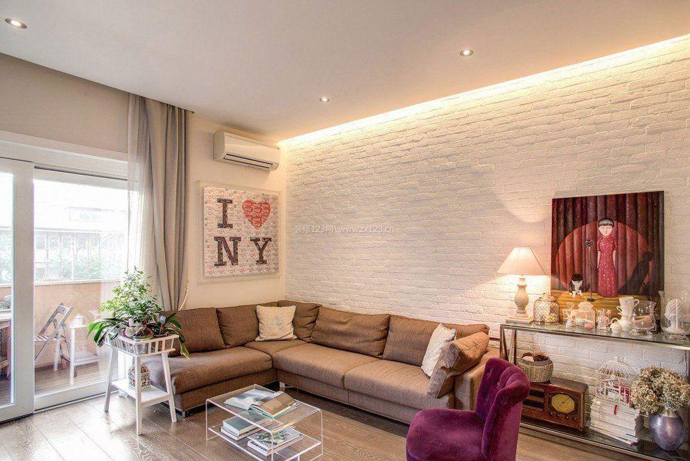 80平米小户型客厅设计装修效果图片2017