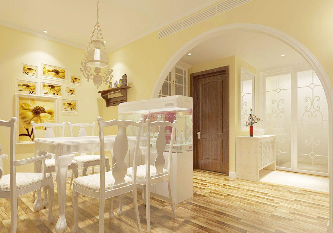 小户型田园风格家装餐厅吊灯设计图片_装修123效果图