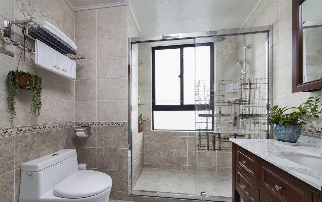 小户型新房卫生间浴室装修设计图片欣赏_装修123效果图图片