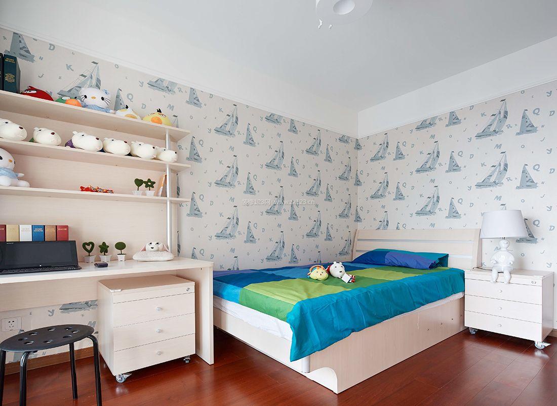 最新家居儿童房墙面壁纸装修效果图片
