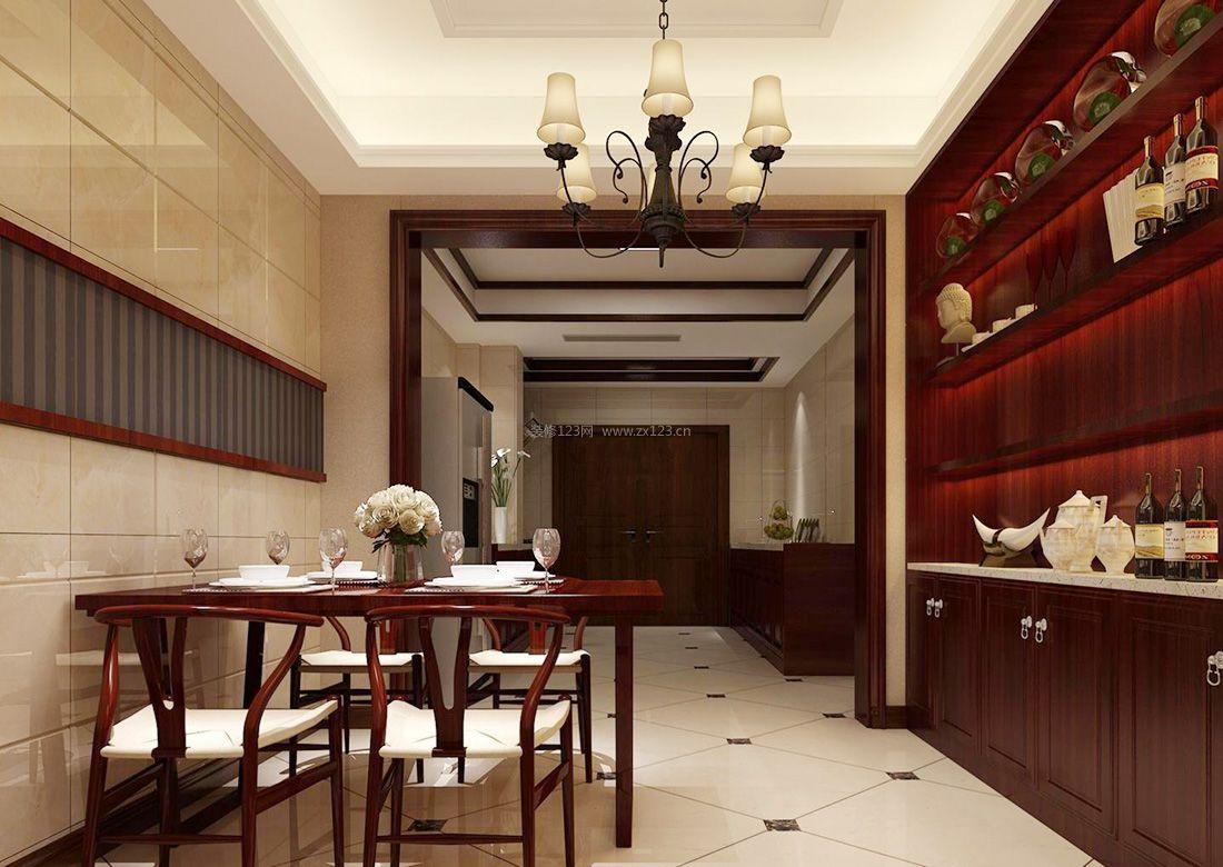 中式小别墅厨房隔断装修设计效果图2017