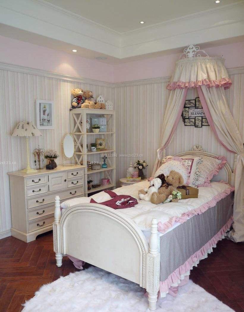 简欧风格儿童房卧室家具效果图片