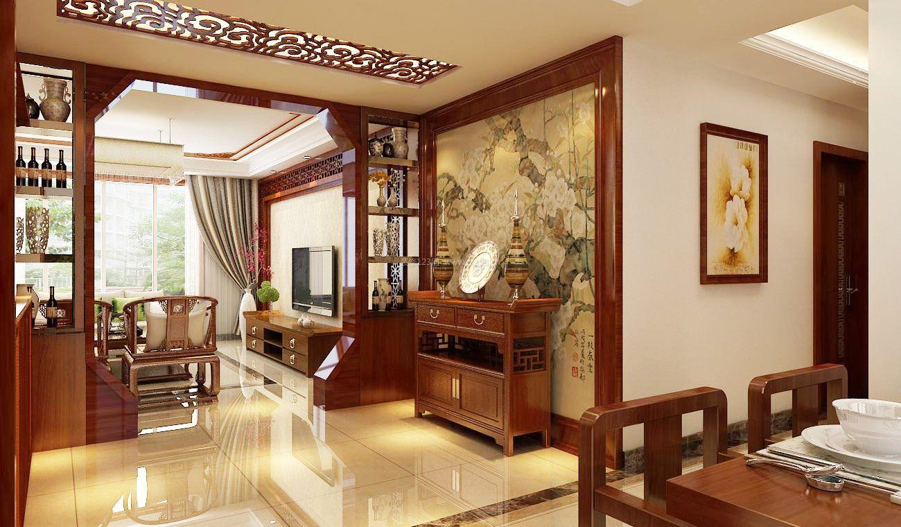 客厅装潢设计中式家具电视柜装修效果图