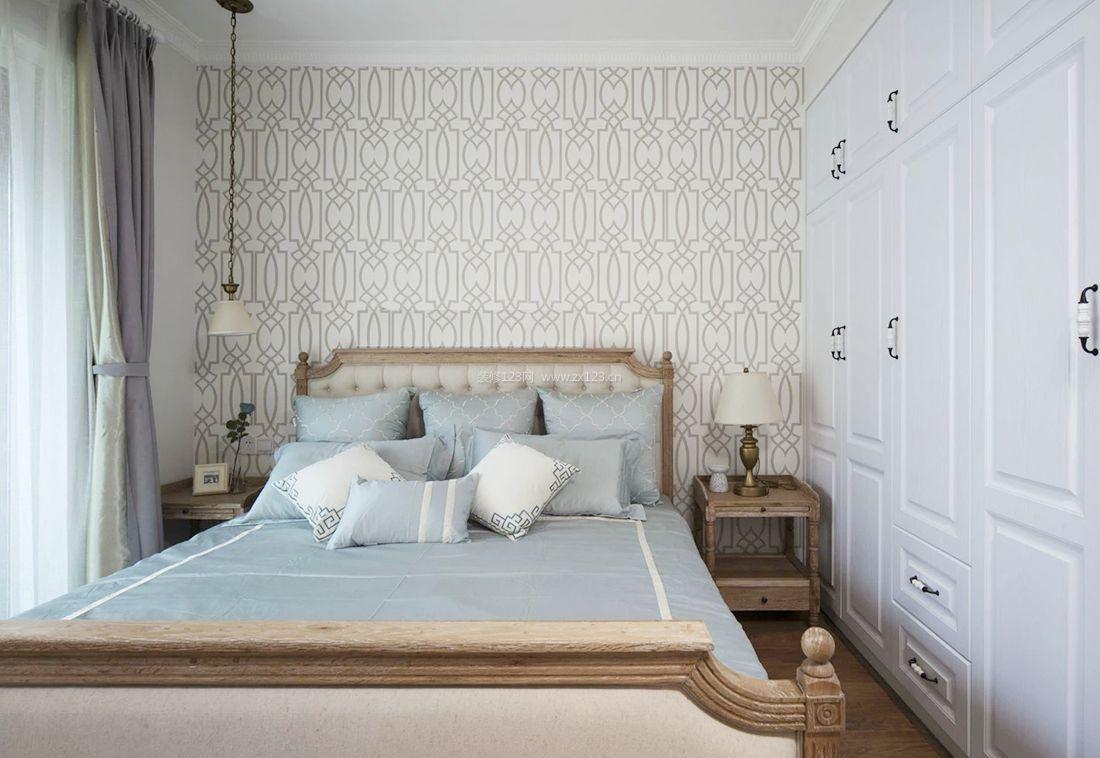 2017美式风格样板间卧室衣柜装修效果图图片