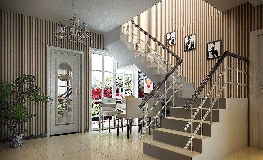 现代简约风格复式楼梯设计效果图