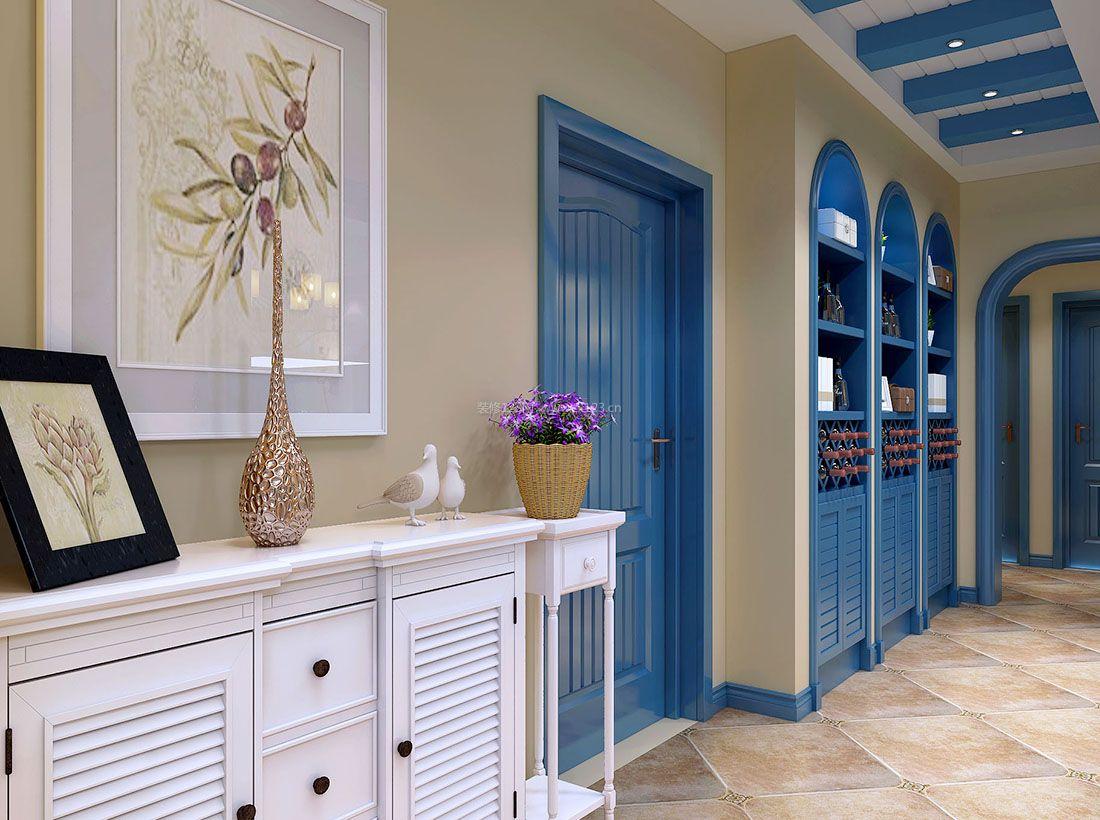 家装效果图 地中海 2017地中海风格蓝色酒柜装修效果图片 提供者