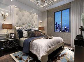 2017法式卧室床头软包背景墙效果图图片