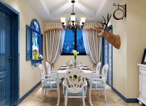 蓝色地中海风格 蓝色门装修效果图片