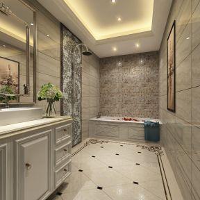 欧式别墅室内浴室整体浴室柜装修图片