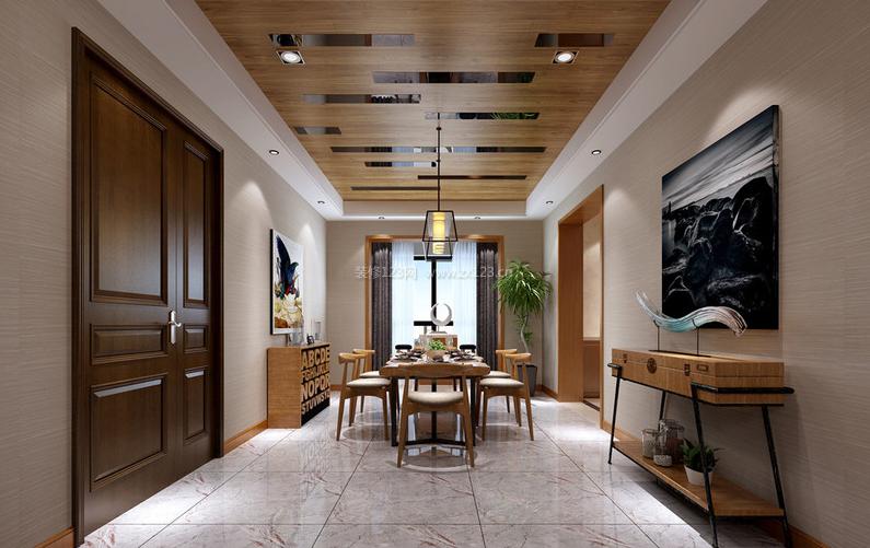 装修指南 > 复式豪华装修 豪华复式楼装修效果图赏析     木质天花板图片