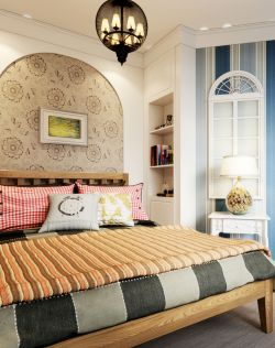 地中海家居簡約臥室吊燈裝修圖片