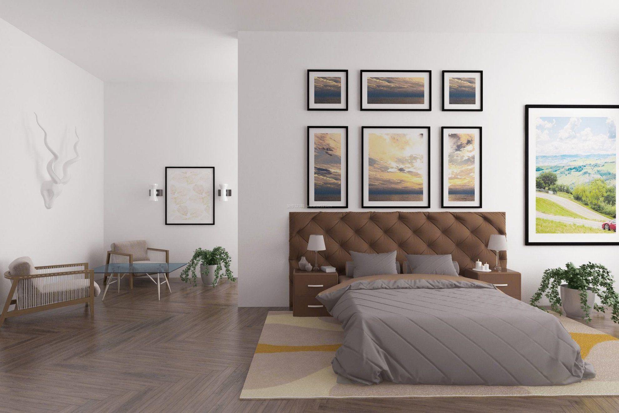 家居装饰品卧室床头背景墙设计效果图