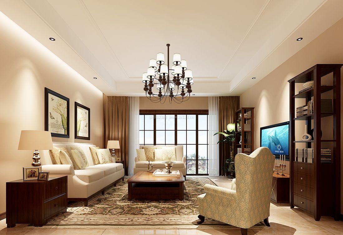 2017美式室内家装客厅设计效果图图片