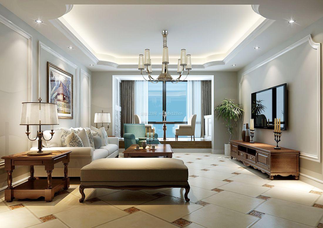 房子效果图美式2017美式室内大客厅装修阳台家装图片提供者装修效果案例v房子放床图片