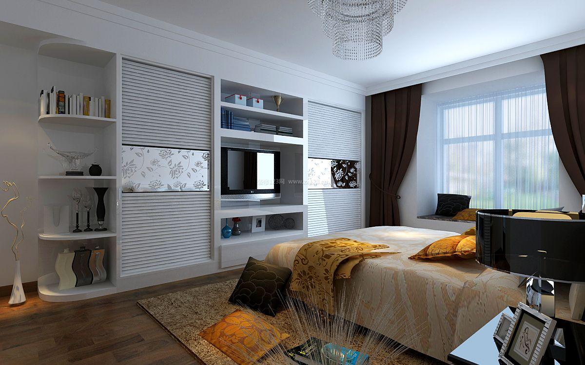现代主卧室衣柜装修设计效果图片