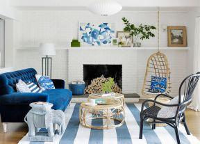 90平兩室兩廳簡約 客廳布藝沙發