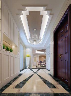 欧式复式楼家装 走廊吊顶装修效果图图片