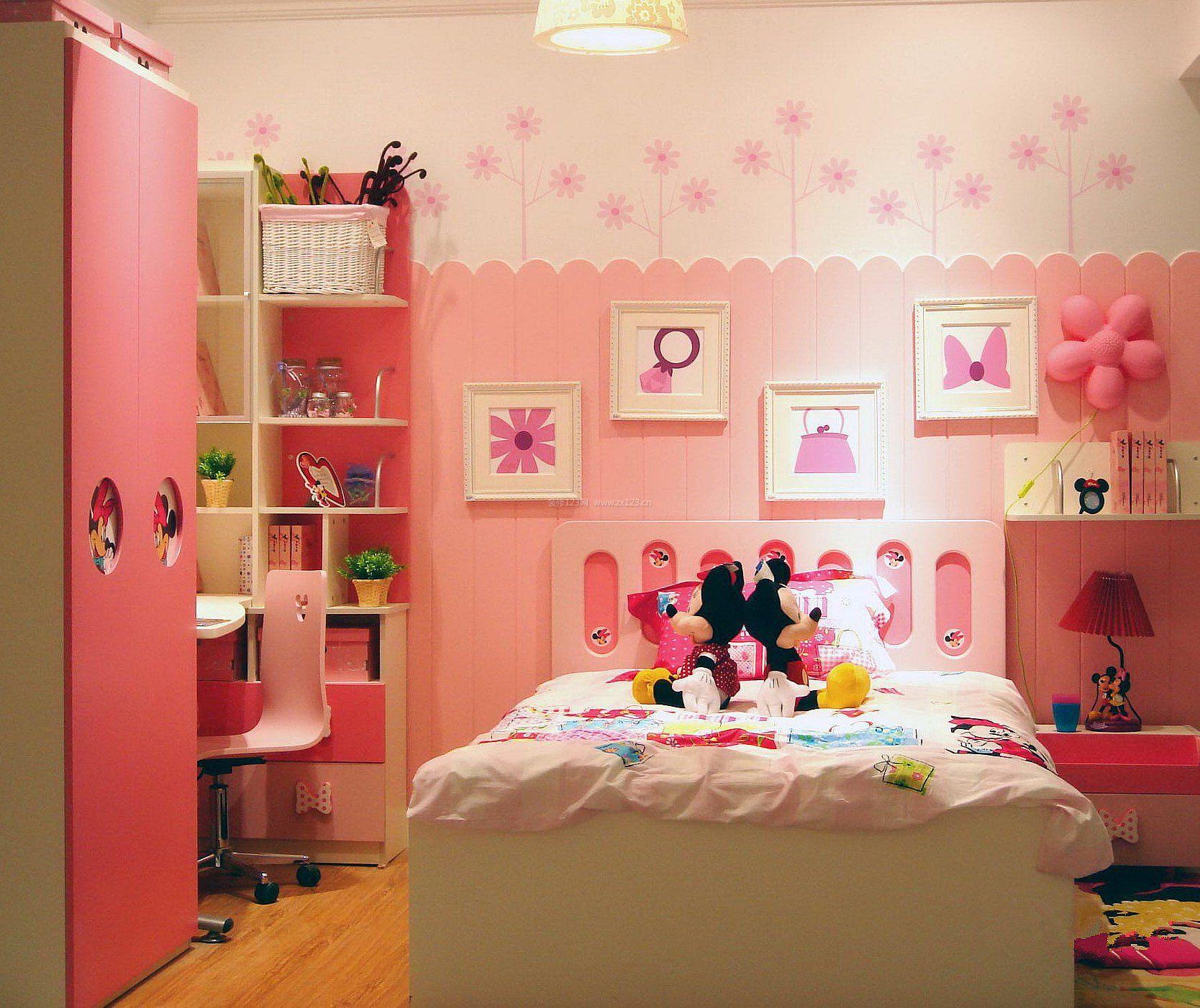 可爱女生卧室设计图片2017