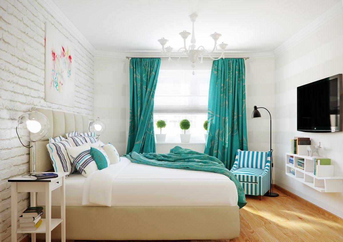 可爱女生卧室窗帘装修效果图