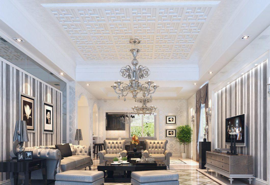 2017欧式家装客厅吊顶装修效果图大全图片