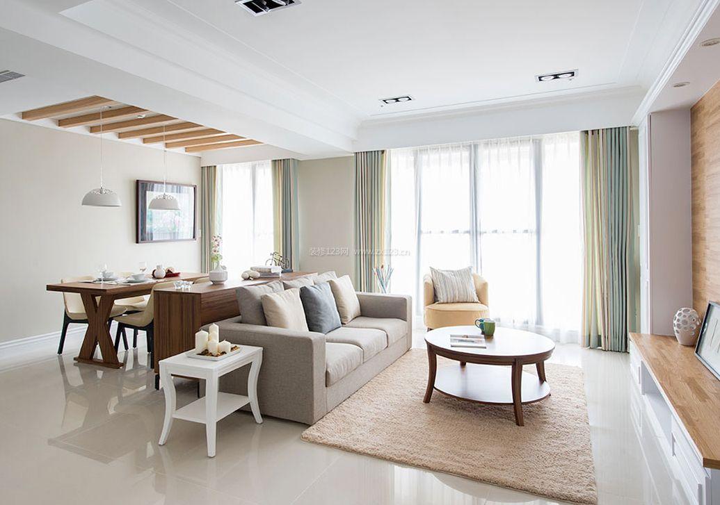2017后现代家装客厅窗帘装修效果图
