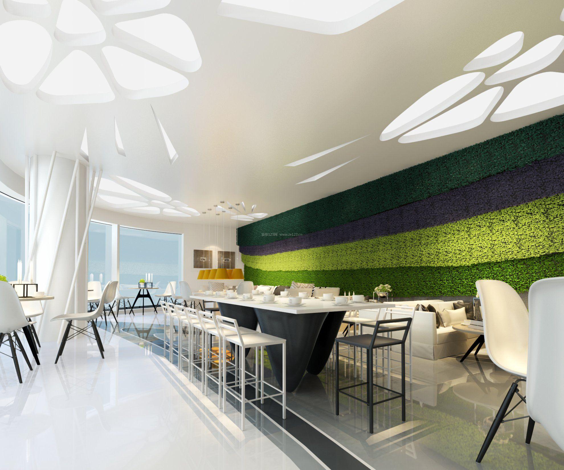 天花板吊顶装修效果图大全咖啡厅