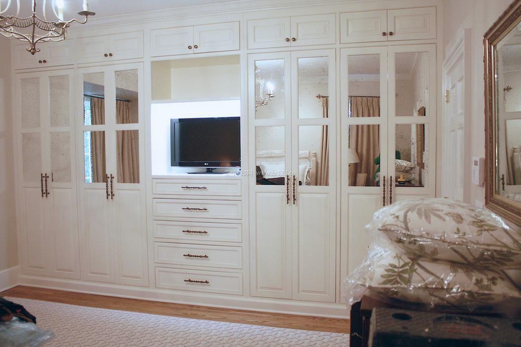 房屋卧室组合衣柜设计效果图片2017