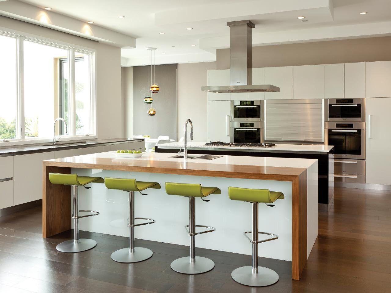 开放式家庭厨房吧台装修效果图片