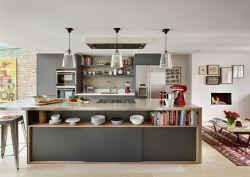 北欧风格装修设计家庭开放式厨房吧台设计效果图片