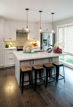 现代北欧风格家庭吧台设计效果图