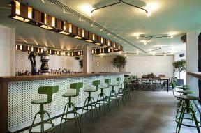 咖啡厅吊顶 田园风格店面装修图图片