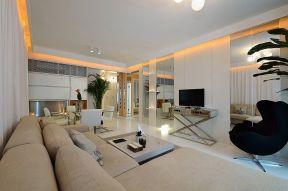 130平米客廳簡單 燈帶裝修效果圖片
