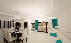 130平米客廳簡單 餐廳設計裝修效果圖片