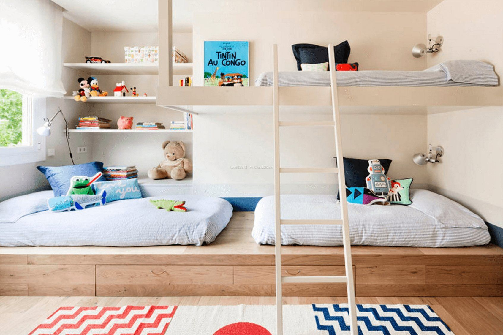 儿童房室内设计榻榻米效果图