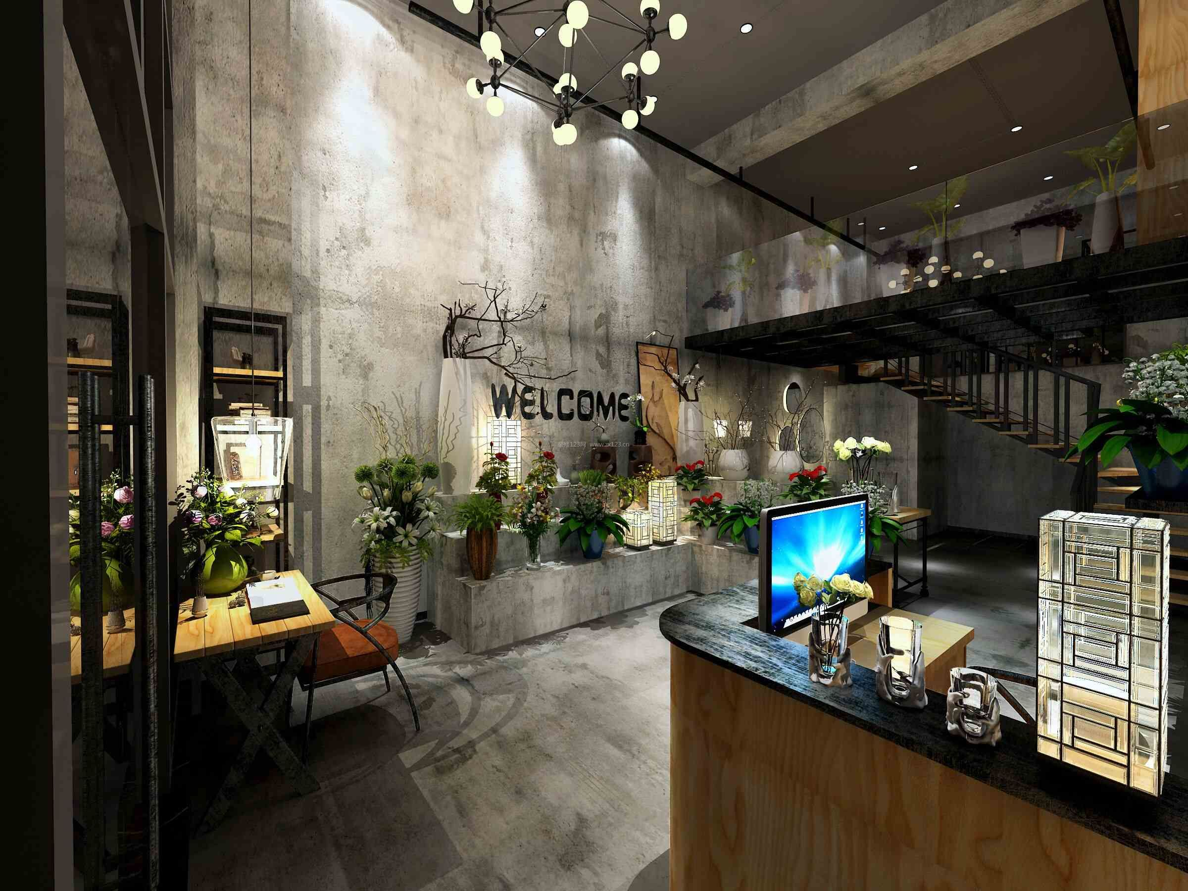 小型花店收银台装修效果图片