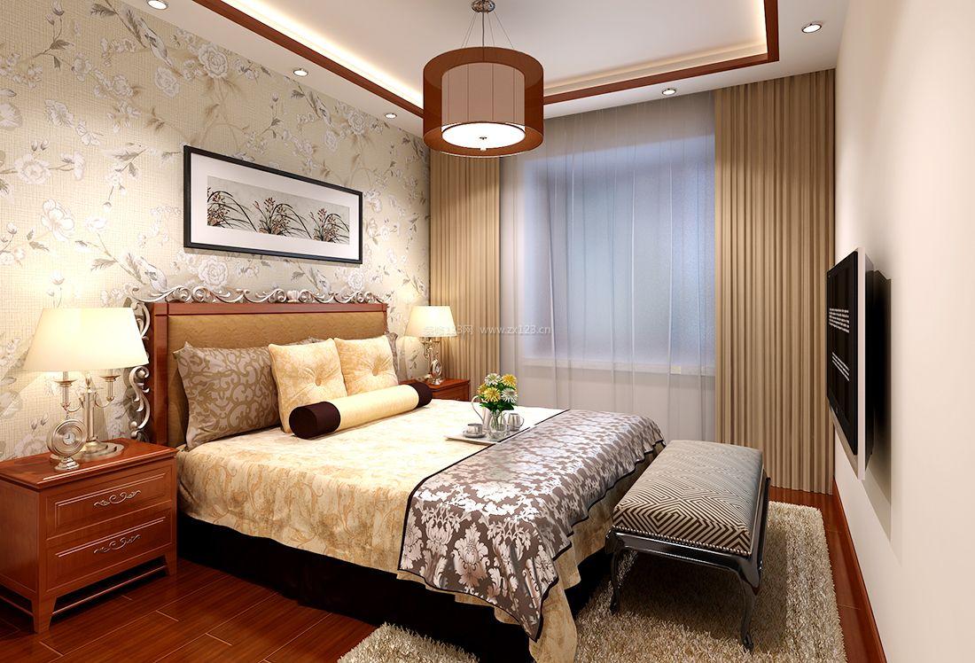 室内卧室新中式装饰元素装修效果图大全