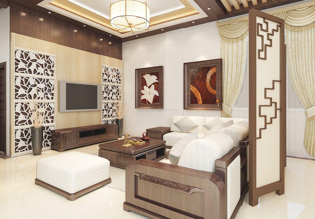 家装效果图 中式 2017小客厅新中式装饰元素装修效果图 提供者:   ←