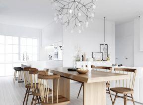 北欧风格装修设计 实木餐桌装修效果图片图片