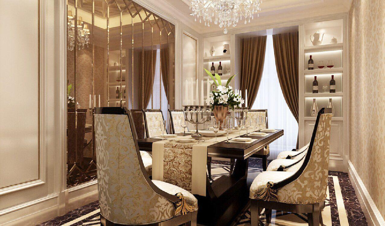 小户型别墅欧式餐厅酒柜装饰装修