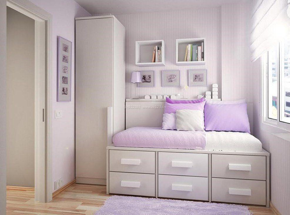 女生温馨卧室设计图片欣赏_装修123效果图