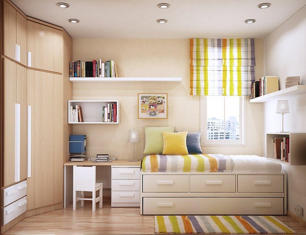 小面积书房兼卧室装修效果图