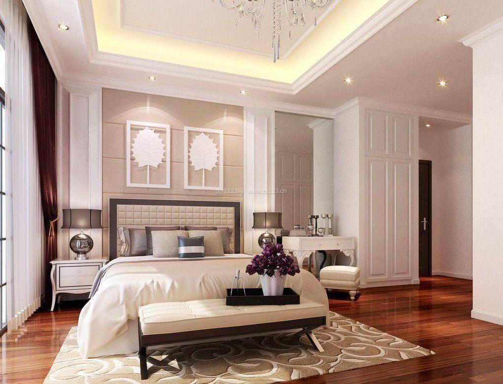 现代中式卧室装修效果图大全