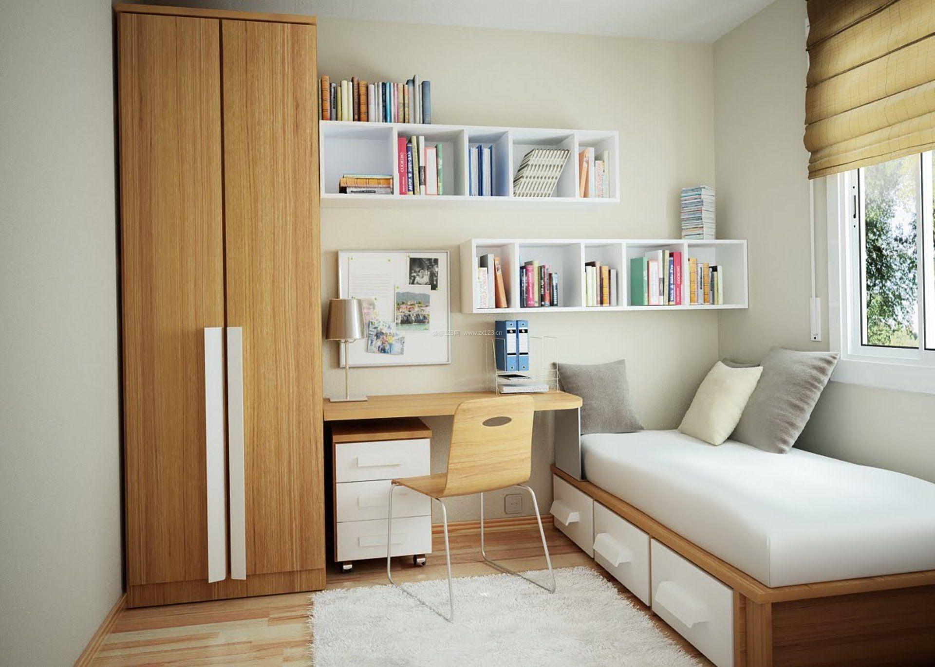小面积书房带卧室装修效果图片