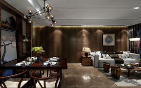 90平米兩室兩廳裝修方案 客餐廳效果圖