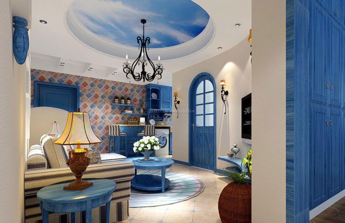 整套小户型地中海风格室内吊顶装饰效果图