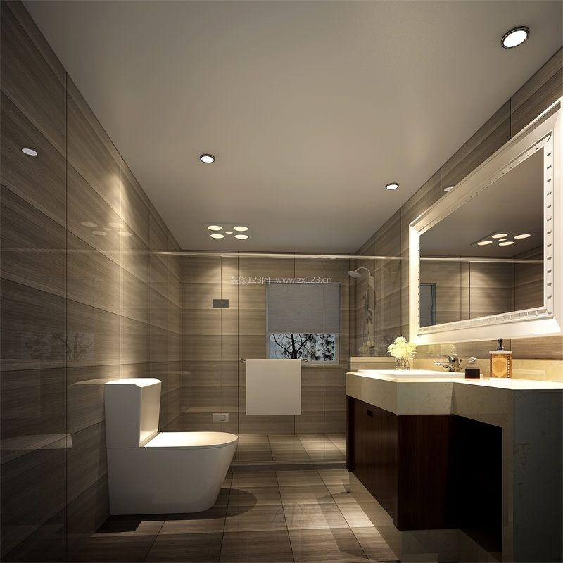 简约中式卫生间整体浴室柜装修效果图片