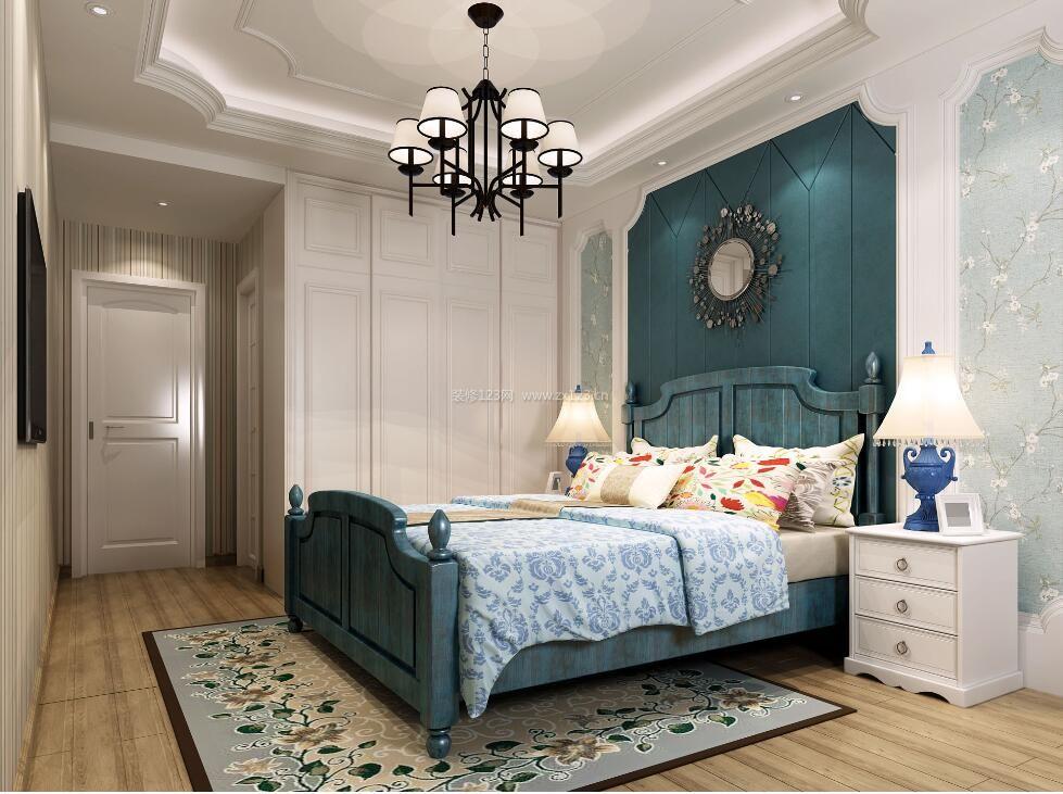 家庭卧室石膏板吊顶造型装修效果图片图片